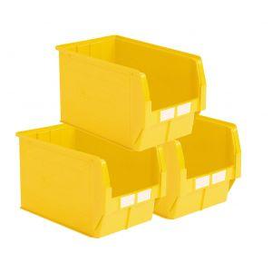 Carton 5 bacs à bec 42 litres jaune
