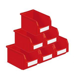 Bacs à bec plastique 3.8 litres rouge (Lot de 54)