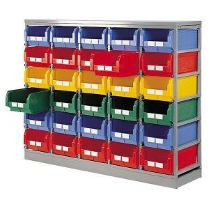 Rack rangement pour 30 bacs à bec 28 litres