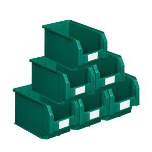 Bacs plastiques à bec 12.5 litres vert (Lot de 15)