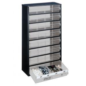 Bloc métallique à tiroirs transparents série 150, 8 tiroirs F
