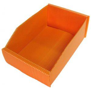 Bac polypropylène de stockage 1.5 l orange