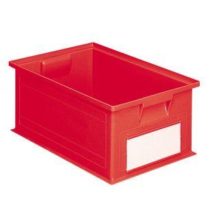 Bac plastique gerbable 27 litres rouge