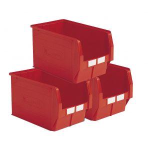 Carton 5 bacs à bec 42 litres rouge