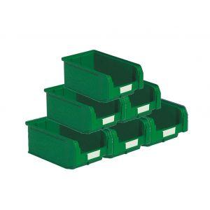 Bacs plastiques à bec 9.4 litres vert (Lot de 21)