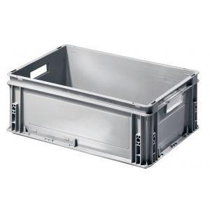 Caisse gerbable plastique 600x400 avec poignées 40 litres