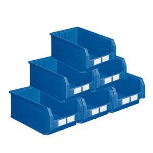 Carton de 10 bacs à bec 28 litres bleu