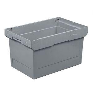 Bac de transport empilable 58 litres gris