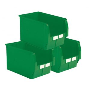 Carton 5 bacs à bec 42 litres vert