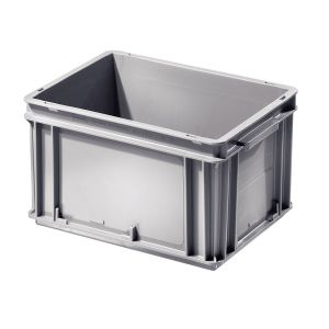 Bac plastique Euronorme coloris gris volume 20 litres