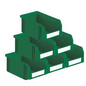 Bacs à bec plastique 3.8 litres vert (Lot de 54)
