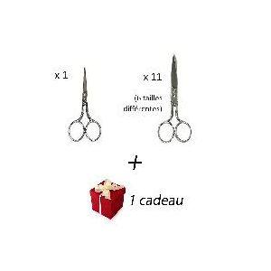 Promo 12 ciseaux couture + cadeau Locau