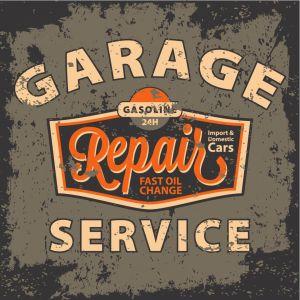 Tableau Vintage Garage Repair Service 60X60