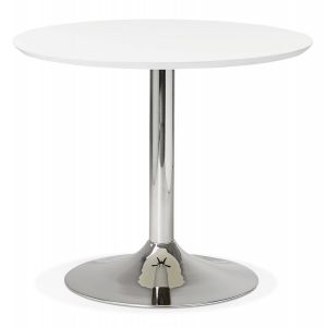 Petite table de bureau / à diner ronde 'KITCHEN' blanche - Ø 90 cm