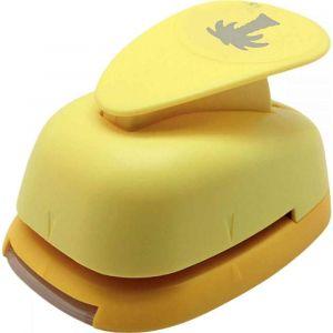 Perforateur déco 38mm palmier jaune