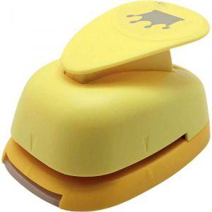 Perforateur déco 38mm couronne jaune