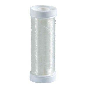 Fil nylon élastique transparent - Bobine de 20m