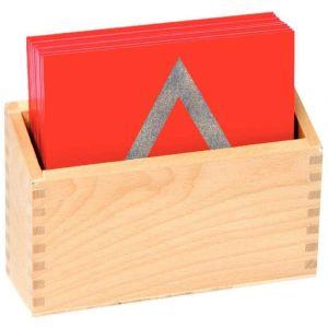 Formes géométriques + Boîte de rangement - Sachet de 13 plaques