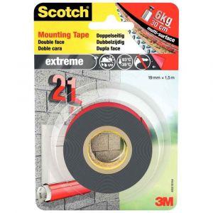 Scotch - Rouleau de fixation double face extra fort - 19mm x 1,5m