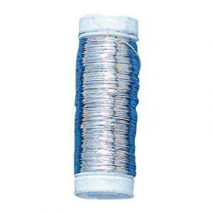 Fil argent - Diamètre 0,3mm - Bobine de 50m