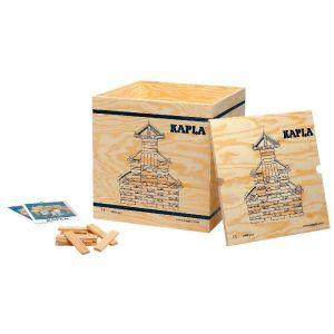 Caisse en bois avec roulettes garnie de 1 000 planchettes en pin