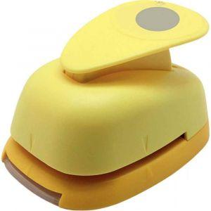 Perforateur déco 38mm rond jaune