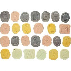 Carton de 26 galets alphabet en majuscule