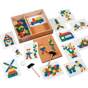 Formes géométriques en plastique pour jeu de marteau EDUCO - Sachet de 144