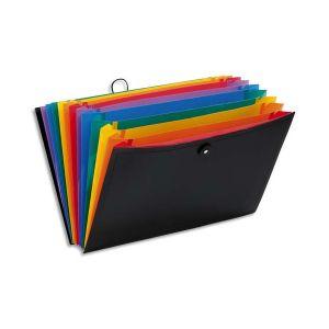 VIQUEL Trieur malette RAINBOW CLASS 13 compartiments, polypropylène 10/10e, noir intérieur multicolore