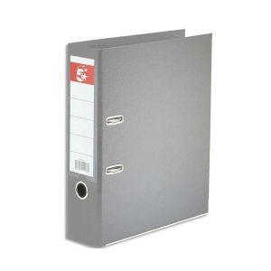 5 ETOILES Classeur à levier dos de 8 cm plastifié intérieur et extérieur gris