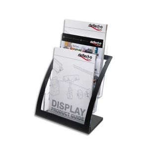 DEFLECTO Porte-brochures 3 compartiments A4 Contemporary + porte-cartes A4 L28,9 x H34,9 x P15,6 cm transparent