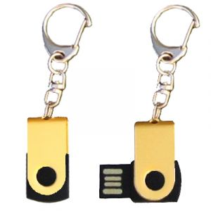 Mini porte-clés USB - 8Gb doré-noir