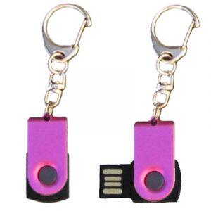 Mini porte-clés USB - 8Gb mauve-noir