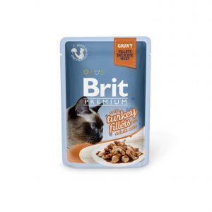 Boîte Chat - Brit Premium Pouches Gravy à la Dinde