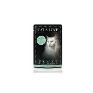 Boîte Chat -  Sachets repas Cat's Love à la dinde 85gr