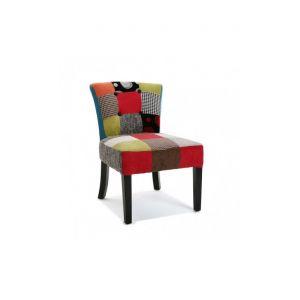 Chaise tissu multicolore comparer 97 offres for Chaise multicolore