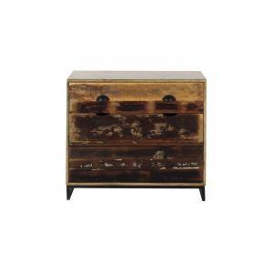 Commode industrielle 3 tiroirs bois et acier WOODLAND