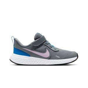 Chaussures sport  Nike Revolution 5  à scratch et lacets Gris - Taille 29,5