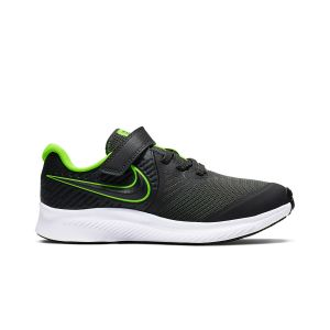 Chaussures sport  Nike Star Runner 2  à lacets et scratch Gris - Taille 32