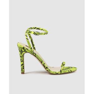 Sandales à talon  La Strada à imprimé serpent Vert - Taille 39