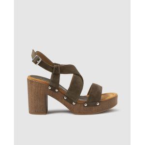 Sandales à talon  Unisa Vert - Taille 41