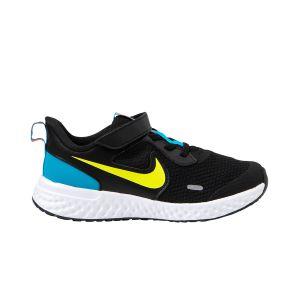 Chaussures sport  Nike Revolution 5  à scratch et lacets Noir - Taille 35,5
