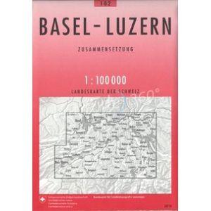 Carte BASEL - LUZERN