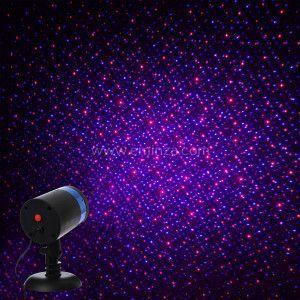 Projecteur laser à détecteur Bleu / Rouge 2 LED