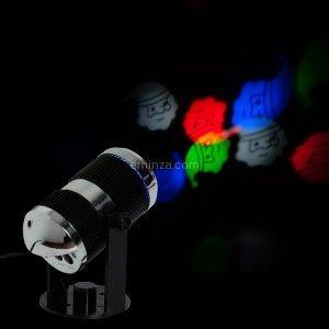 Projecteur Père Noël Multicolore 4 LED