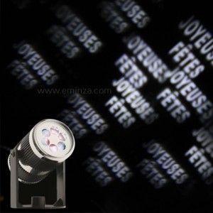 """Projecteur """"Joyeuses Fêtes"""" Blanc froid 4 LED"""