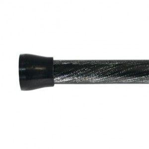 Barre autobloquante (L200 cm) Rond Noir - tringle à rideaux
