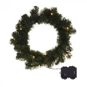 Couronne de Noël lumineuse Glory Blanc chaud