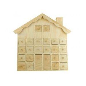 Calendrier de l'Avent à décorer Maison des neiges