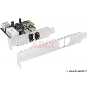 Carte PCI-Express Firewire Low profile 2+1 ports 1394a